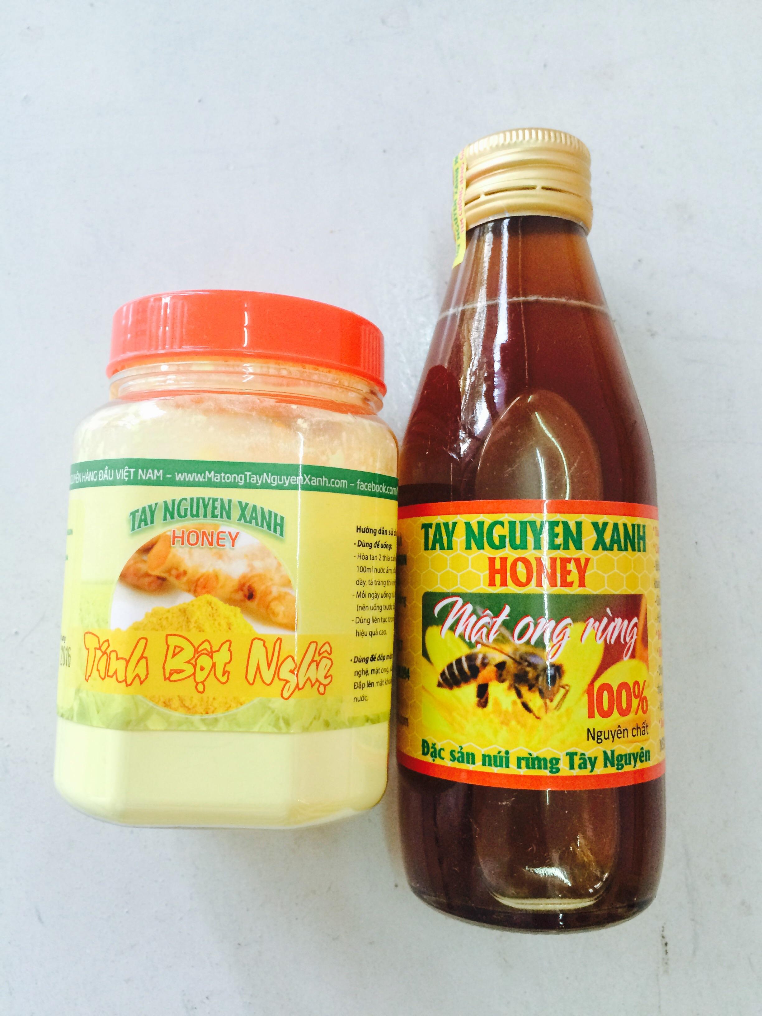 mật ong và tinh nghệ Tây Nguyên Xanh